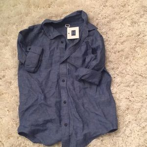 JJ boys size 8 chambray shirt